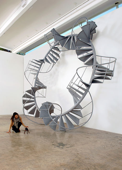 Untitled (Spiral staircase)  2007  Aluminum and steel  264 x 264 x 84 inches