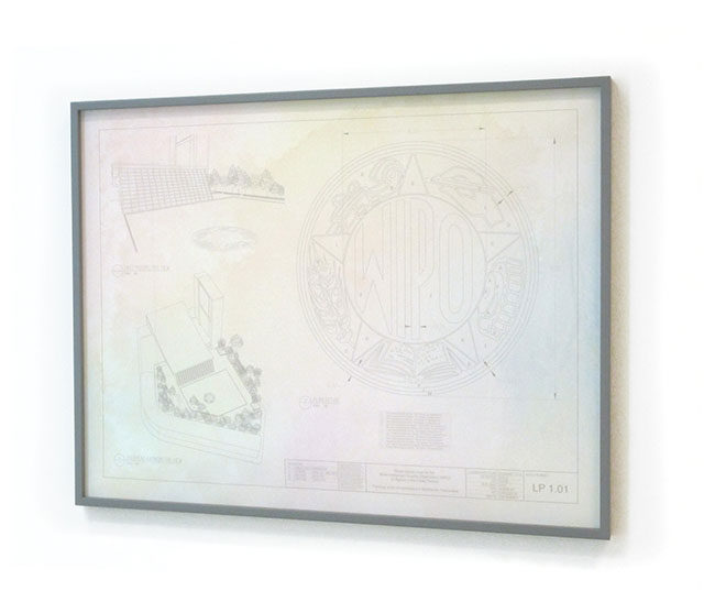 Untitled (World Intellectual Property Organization) 2012 Watercolor and archival inkjet on paper 30 x 39 inches